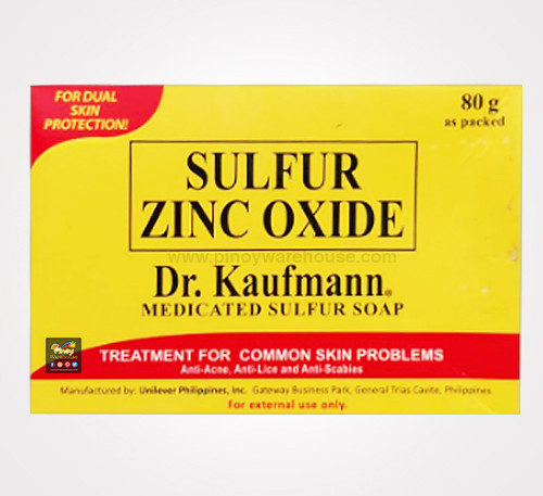 dr kaufmann sulfur zinc oxide