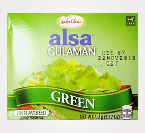 ladys choice alsa gulaman green