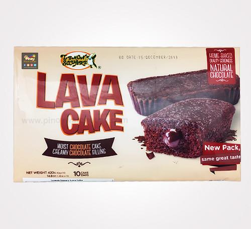 lemon square lava cake
