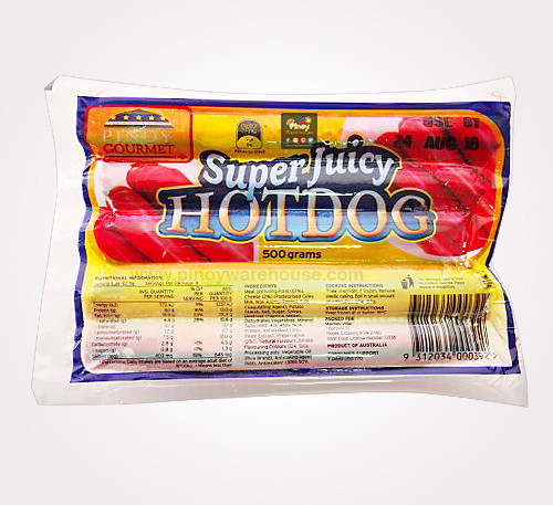 super juicy hotdog 500g