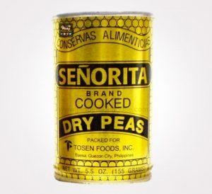 senorita brank cooked dry peas